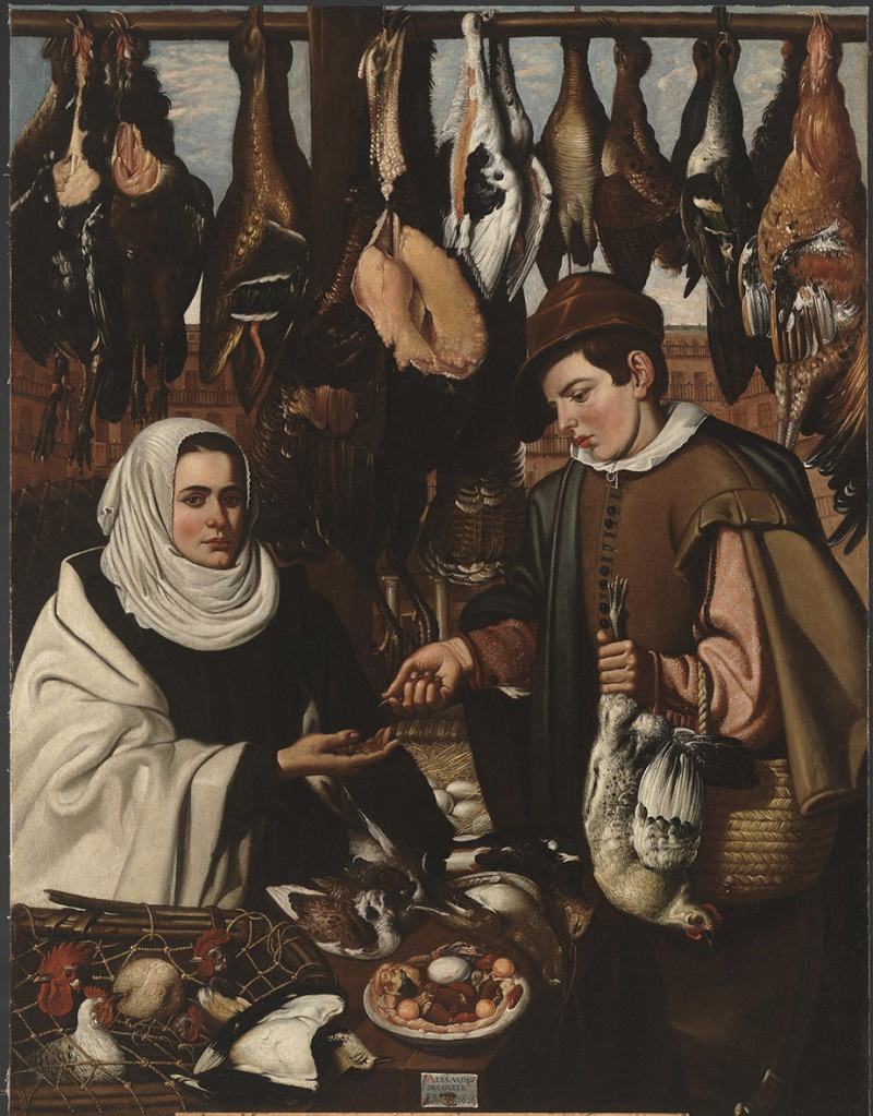 Alejandro Loarte. La gallinera. 1626. Museo del Prado. Madrid.