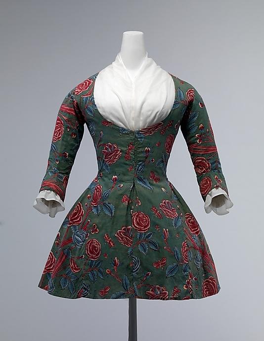 Algodón casaca femenina. Segunda mitad del siglo XVIII. Metropolitan Museum. Nueva York.