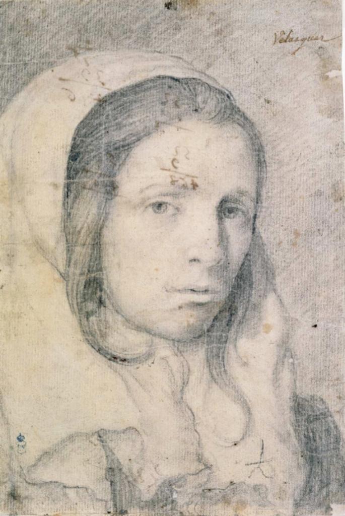 Diego Rodríguez de Silva Velázquez. Cabeza de muchacha. Hacia 1620-1622. Biblioteca Nacional de España. Madrid.