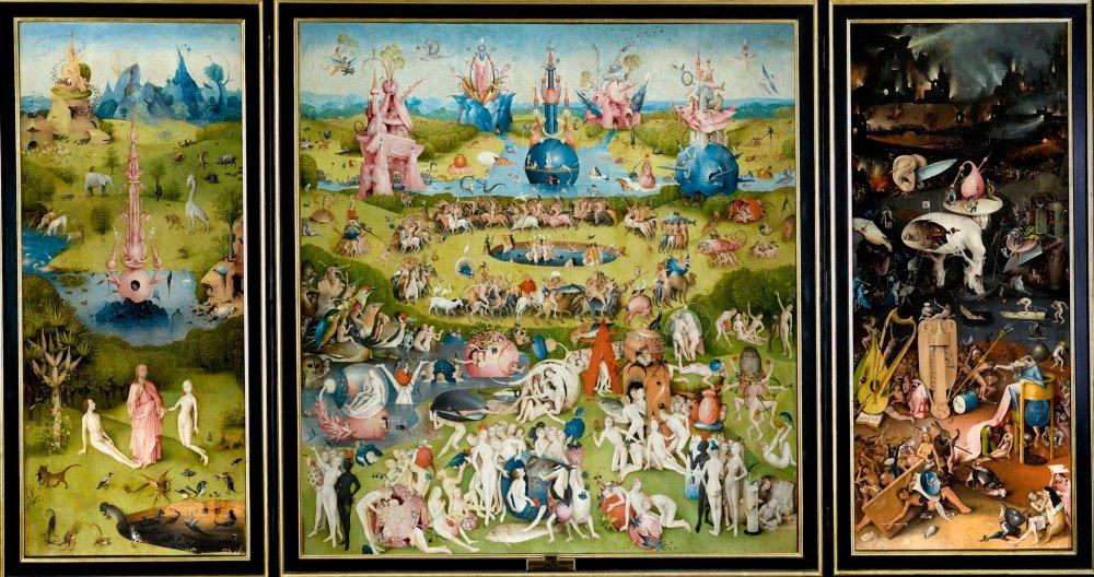 El Bosco. El jardín de las Delicias. 1500-1505. Museo Nacional del Prado. Madrid.