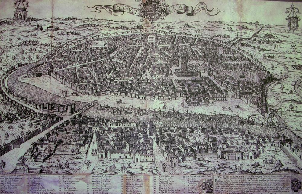 Ambrosio Brambilla. Vista de Sevilla. 1585. Biblioteca Nacional de España. Madrid.