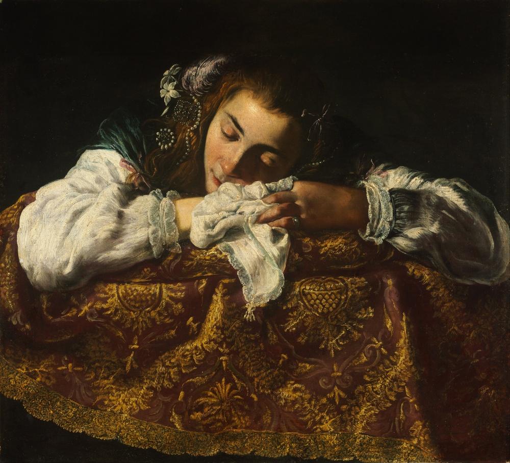 Domenico Fetti. Niña durmiendo. 1620-1622. Museo de Bellas Artes. Budapest.