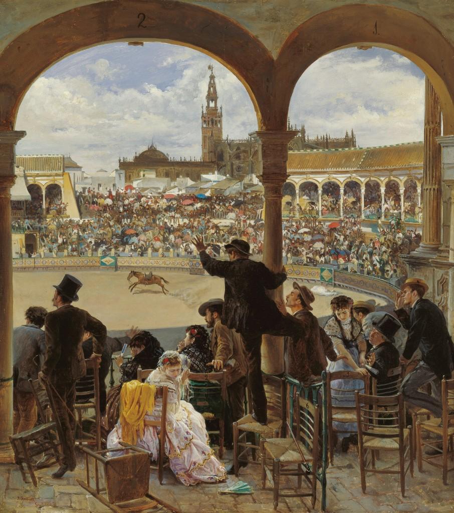 José Jiménez Aranda. Un lance en la plaza de toros. 1870. Museo Carmen Thyssen. Málaga.