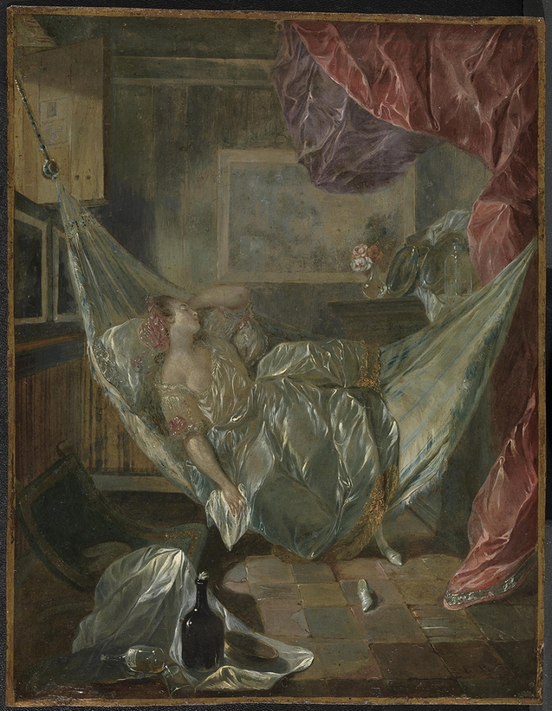 Luis Paret y Alcázar. Joven dormida en una hamaca. 1775-1778. Museo del Prado. Madrid.