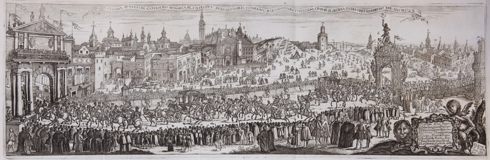Pedro Tortolero. Entrada de Felipe V en Sevilla en 1729. 1766. Biblioteca de la Universidad de Sevilla.