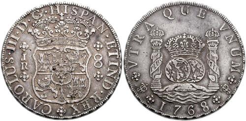 Real de a 8. Acuñado en Bolivia. Carlos III. 1760-1788.