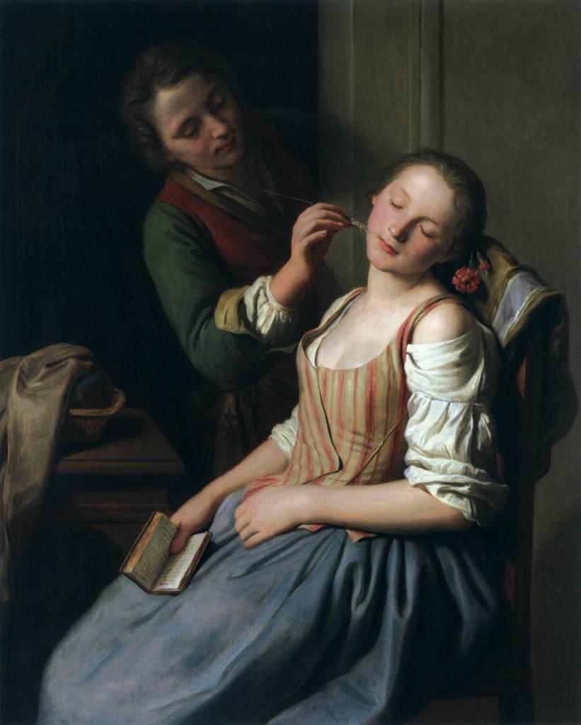 Pietro Antonio Rotari. Chica durmiendo. 1750-1755. Alte Pinakothek. Munich.