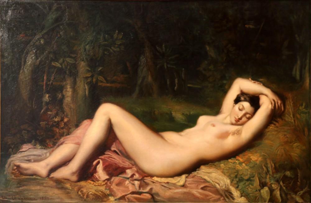 Théodore Chassériau. Bañista dormida cerca de una fuente. 1850. Museo Calvet. Avignon.