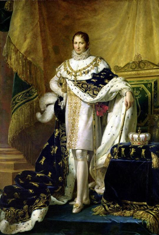 François Gerard. José Bonaparte como rey de España. Hacia 1808. Museo Nacional del Castillo de Fontainebleau.