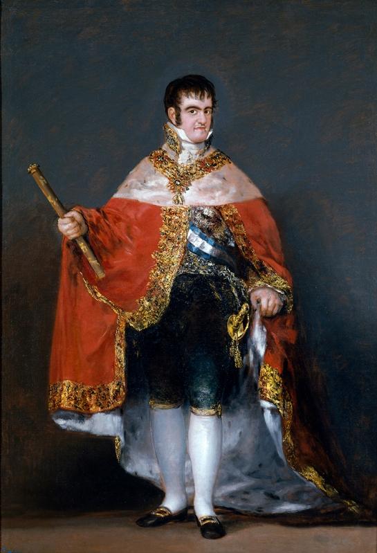 Francisco de Goya. Fernando VII con manto real.1814-1815. Museo del Prado. Madrid.