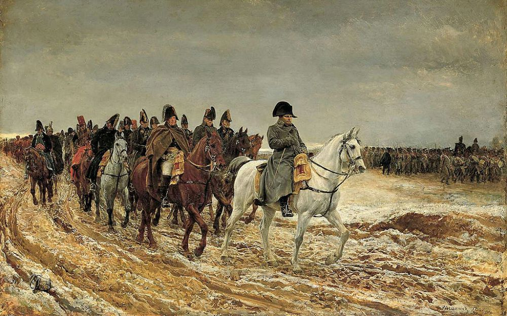 Jean Lous Ernest Meissonier. Napoleon a caballo. Campaña de Francia de 1814. 1864. Museo de Orsay. Paris.