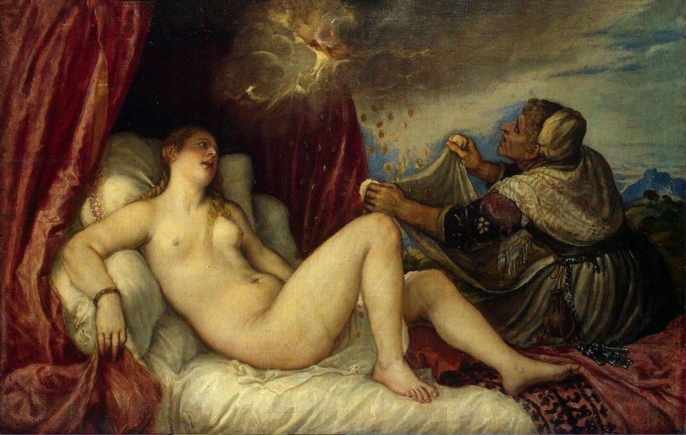 Tiziano. Danae. 1553-1554. Museo del Hermitage. San Petersburgo.