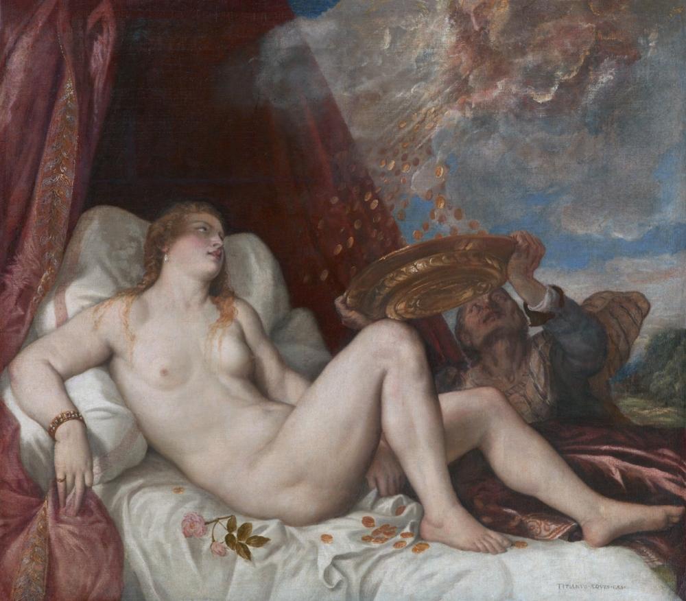 Tiziano. Danae. Después de 1554. Kunsthistorisches Museum. Viena.