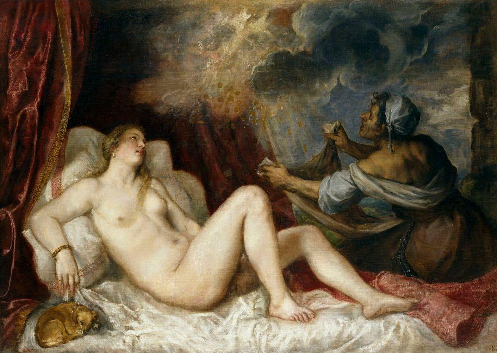 Tiziano. Dánae y la lluvia de oro. Hacia 1565. Museo del Prado.