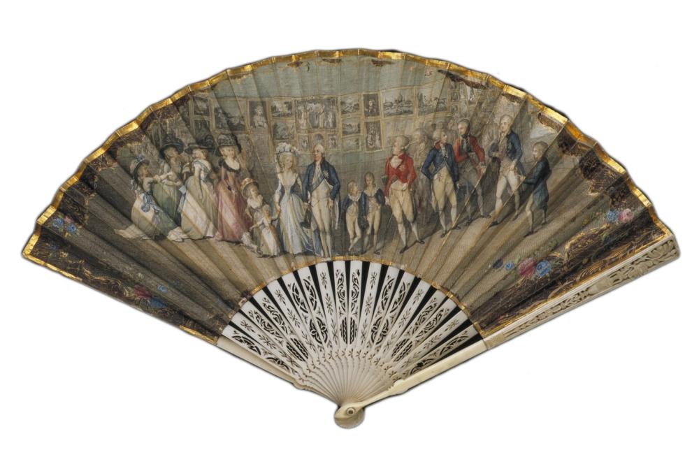 Abanico fabricado por Antonio Poggi e ilustrado por Antonio Marin. Hacia 1790. Museo Victoria and Albert. Londres.