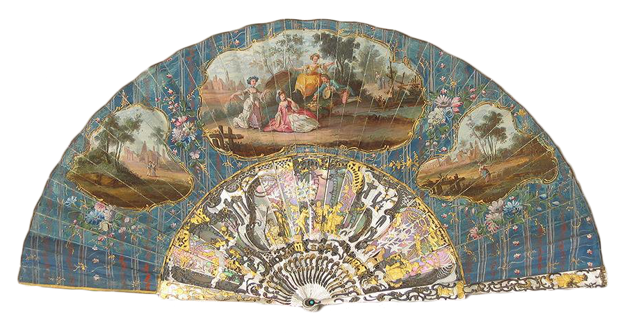 Abanico francés. EL columpio. Hacía 1755. Estilo Luis XVI. Museo Lázaro Galdiano.