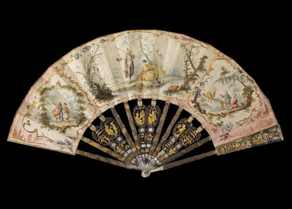 Abanico. Francia. Hacia 1760-1770. Victoria and Albert Museum. Londres.