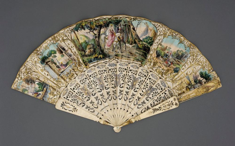 Abanico. Francia. Siglo XVIII. LACMA. EEUU.
