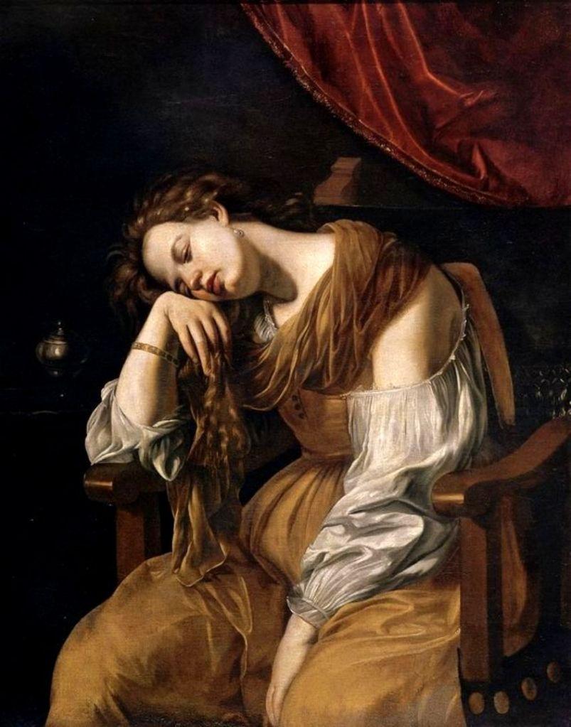 Artemisia Gentileschi. María Magdalena. Hacia 1622-1625. Catedral de Sevilla.