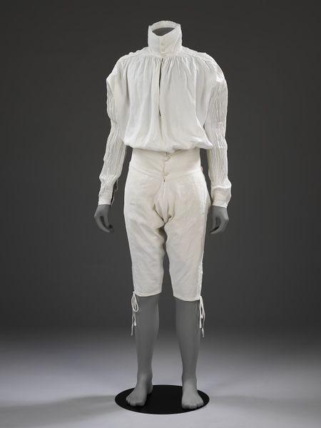 Camisa. Gran Bretaña. Hacia 1775-1800. Museo Victoria y Alberto. Londres.