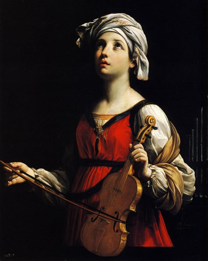 Guido Reni. Santa Cecilia. 1606. Museo Norton Simon. Pasadena. USA.