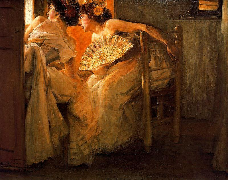 José Villegas Cordero. Mujeres en la ventana. 1921.