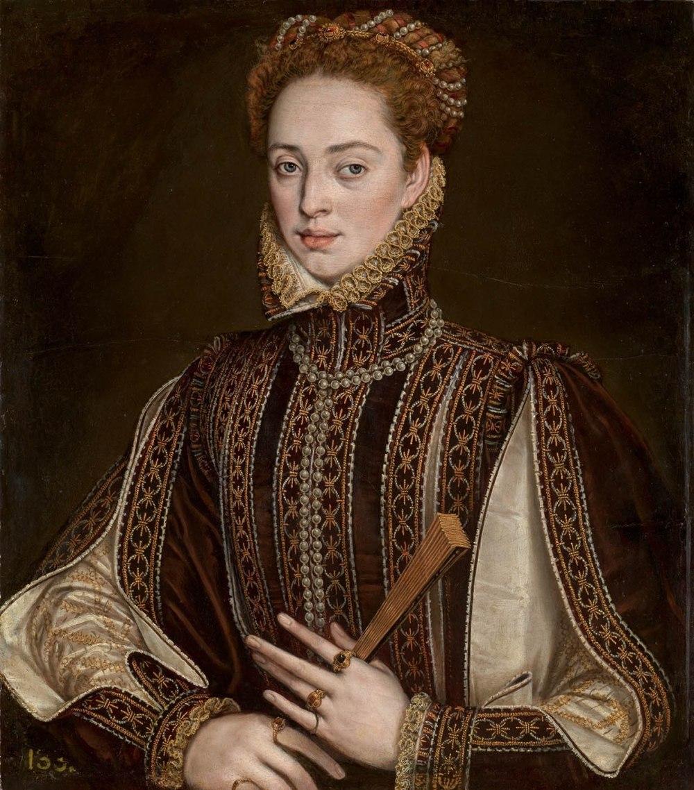 Alonso Sánchez Coello. La dama del abanico. 1570-1573. Museo Nacional del Prado. Madrid.