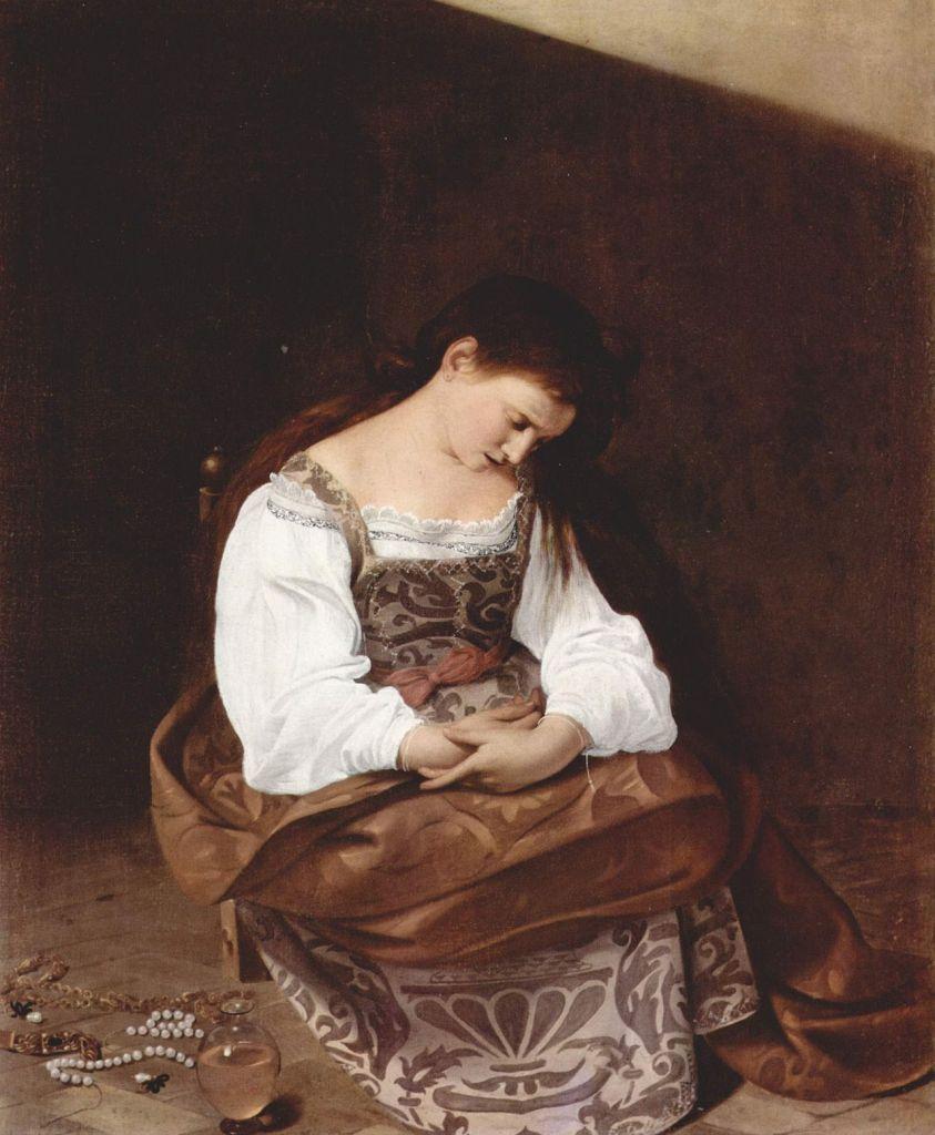 Michelangelo Caravaggio. Magdalena penitente. 1594-1596. Galería Doria Pamphili. Roma