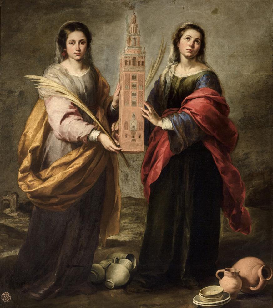 Bartolomé Esteban Murillo. Santas Justa y Rufina. Hacia 1666. Museo de Bellas Artes. Sevilla.