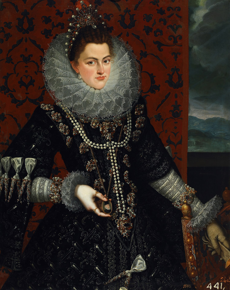 Juan Pantoja de la Cruz. Isabel Clara Eugenia. 1598-1599.