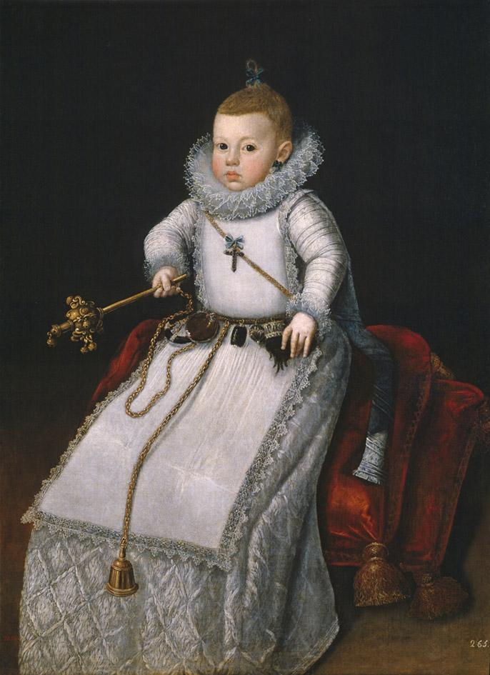 Santiago Morán. Retrato de la infanta Margarita Francisca. Hacia 1610.