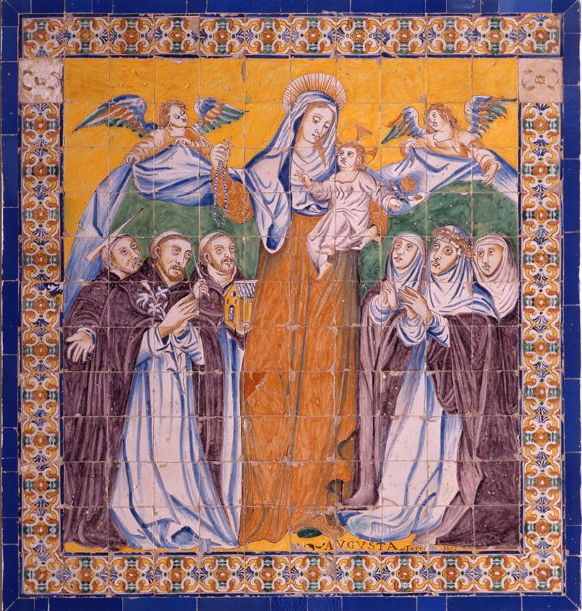 Cristóbal de Augusta. Virgen del Rosario. 1577.