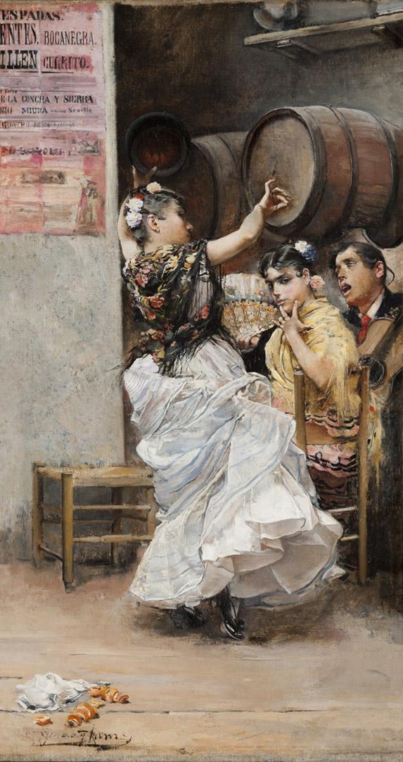 José García Ramos. Baile por bulerías. 1884. Museo de Bellas Artes de Sevilla.