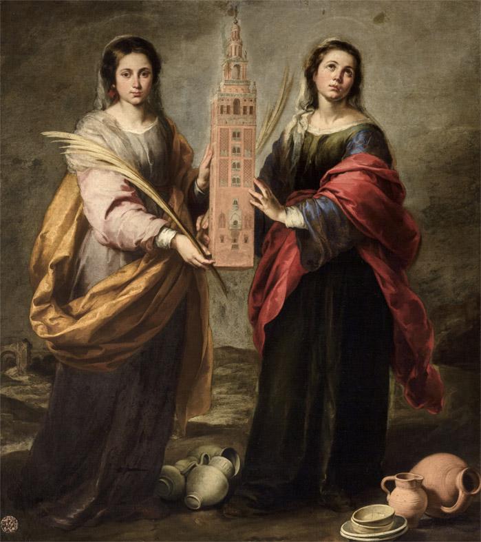 Bartolomé Esteban Murillo. Santas Justa y Rufina. 1666.