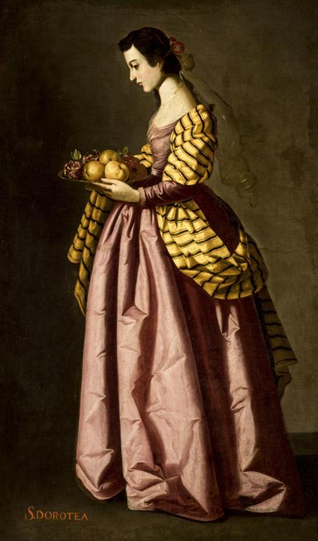 Taller de Zurbarán. Santa Dorotea. Hacia 1640