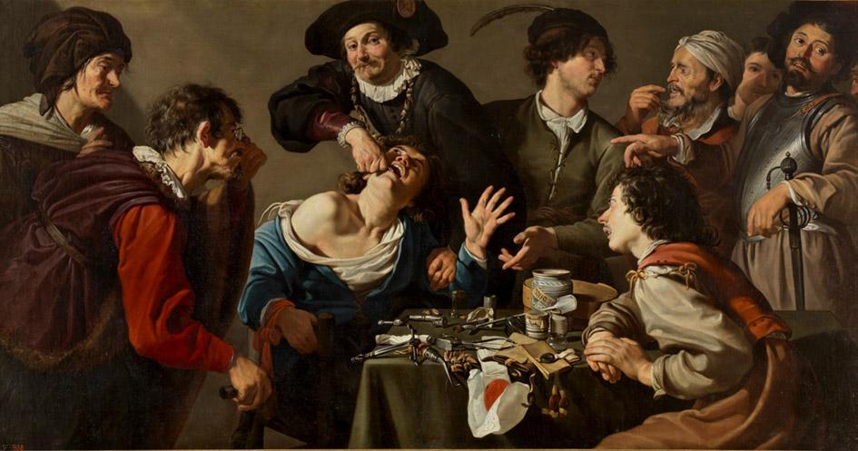 Theodoor Rombouts. El charlatán sacamuelas. 1620-1625