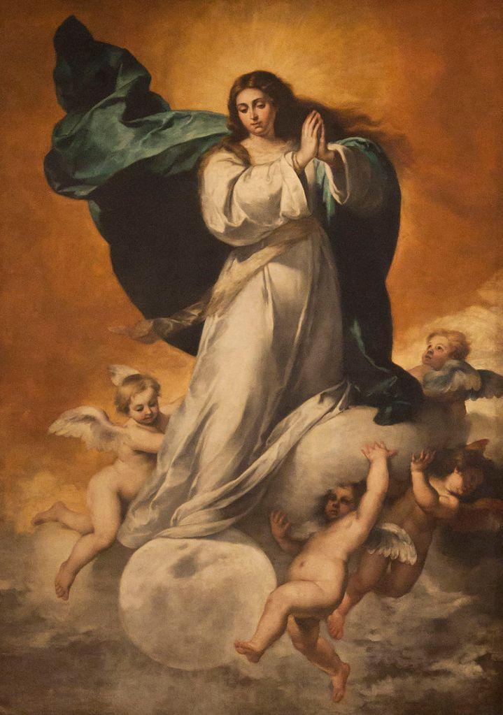 Bartolomé Esteban Murillo. Inmaculada Concepción. Hacia 1650. Museo de Bellas Artes. Sevilla.
