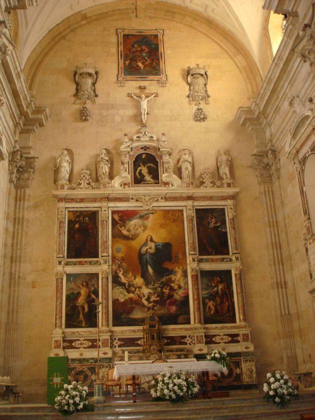 José de Ribera. Altar Mayor de la iglesia de la Purísima. 1635. Salamanca