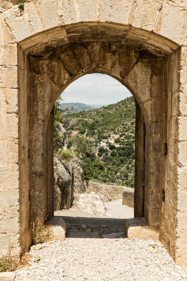 Puerta de acceso al castillo.