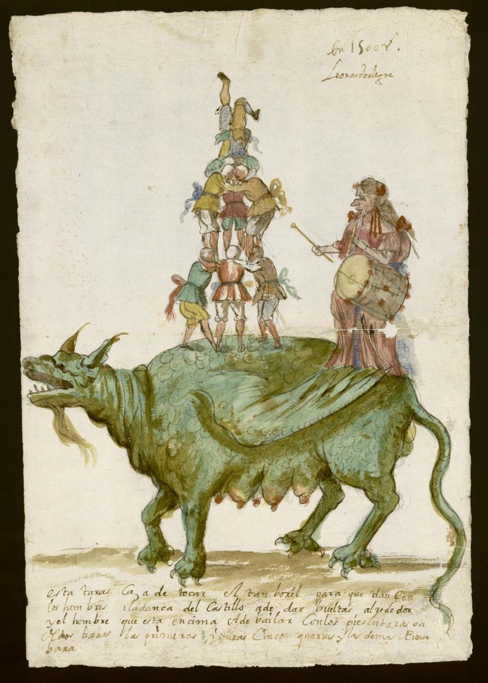 Leonardo Alegre. Tarasca. Procesión del Corpus de 1672. Archivo de la Villa de Madrid.