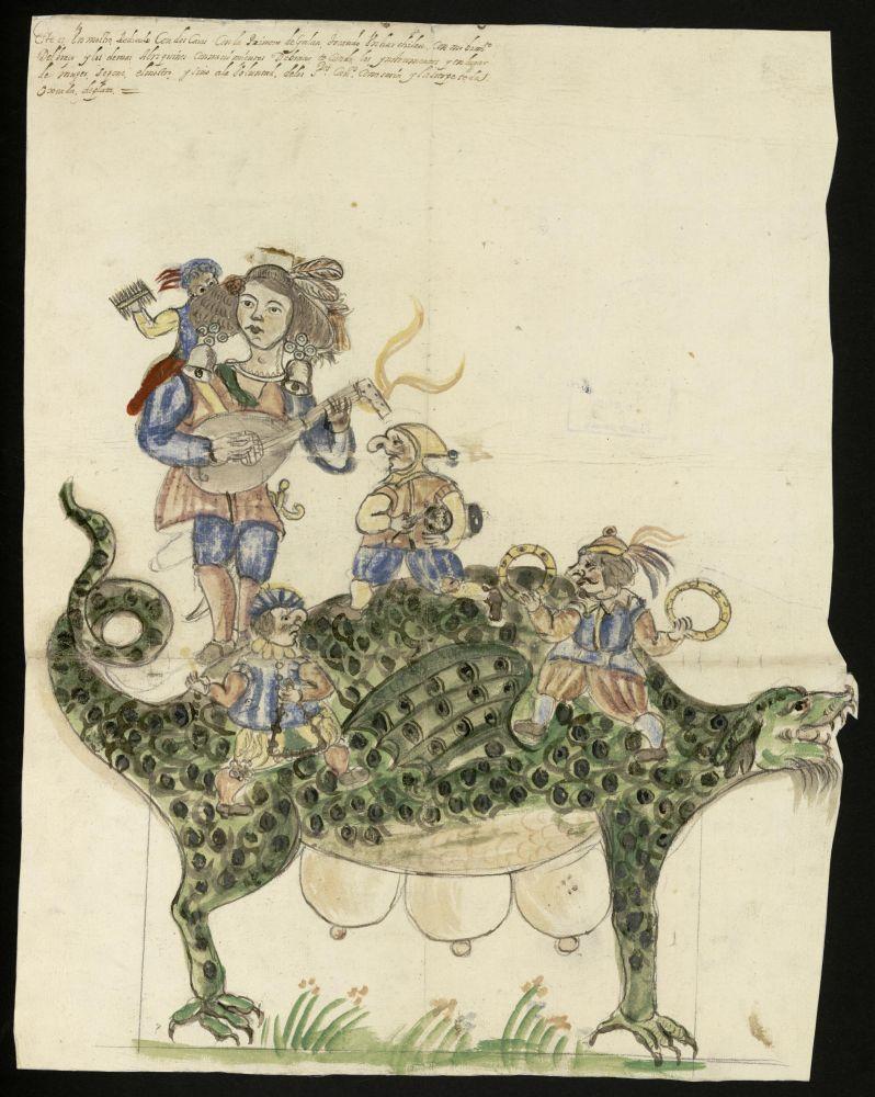 Tarasca. Procesión del Corpus Christi. 1669. Archivo de la Villa de Madrid.