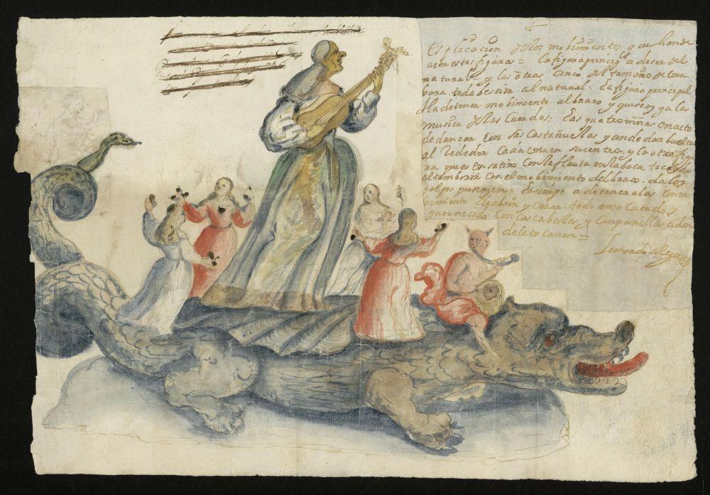 Leonardo Alegre. Tarasca para la procesión.  Corpus Christi. 1685. Archivo de la Villa de Madrid.