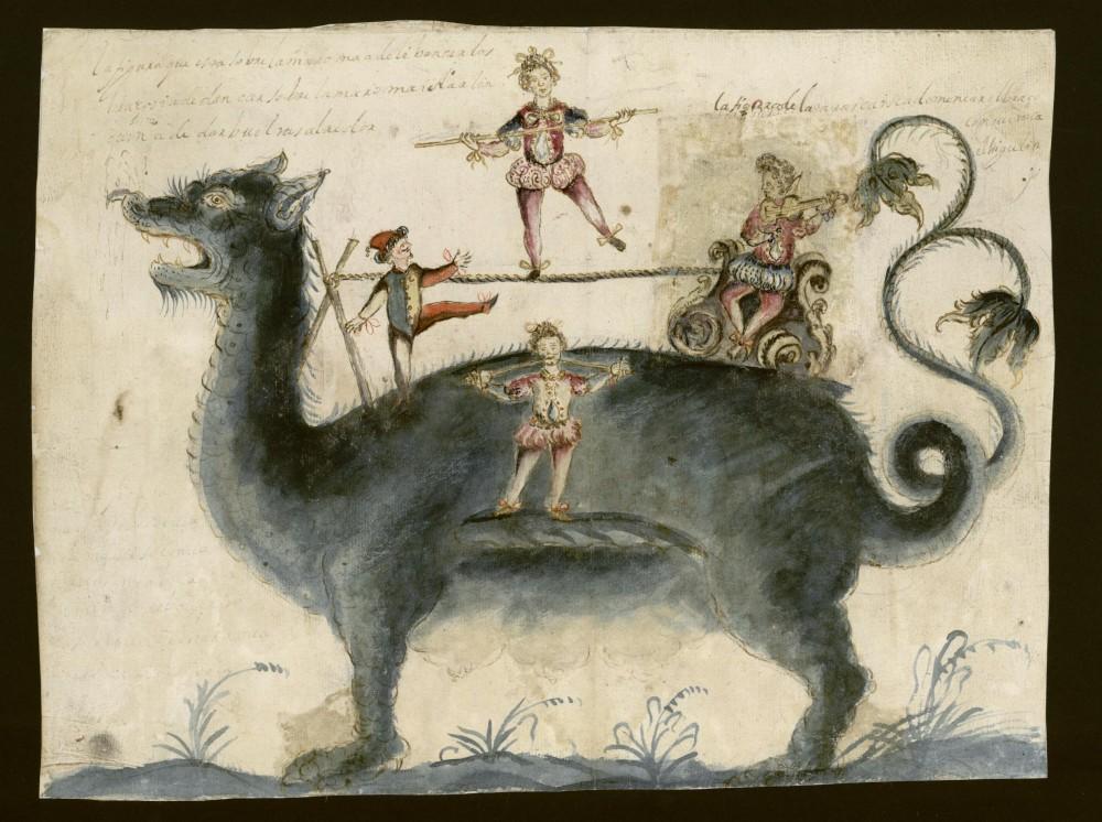 Tarasca. Procesión del Corpus Christi. 1697. Archivo de la Villa de Madrid.