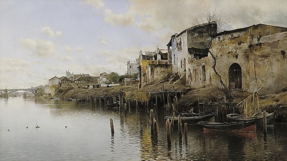 Emilio Sánchez Perrier. Triana. Hacia 1888-1890. Museo de Bellas Artes de Sevilla.