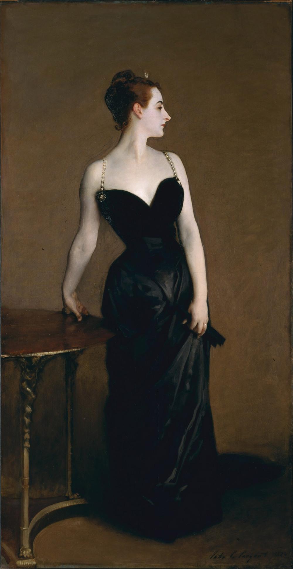 John Singer Sargent. Madame X. Hacia 1883-1884. Metropolitan Museum. Nueva York.