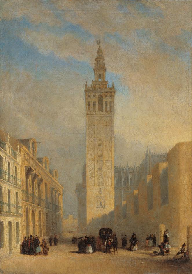 José Domínguez Bécquer. La Giralda visa desde la calle Placentines. Hacía 1836. Museo Carmen Thyssen Málaga