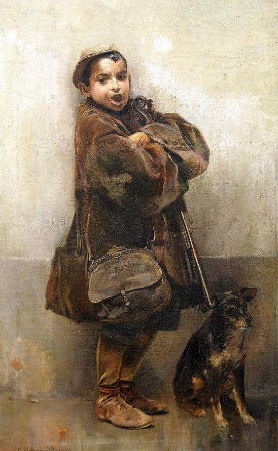 José García Ramos. El niño del violín. Hacia 1900. Museo de Bellas Artes. Sevilla.