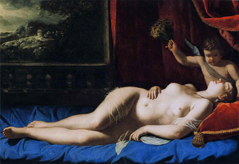 Artemisia Gentilleschi. Venus dormida. Hacia 1625-1630. Museo de Bellas Artes. Virginia.