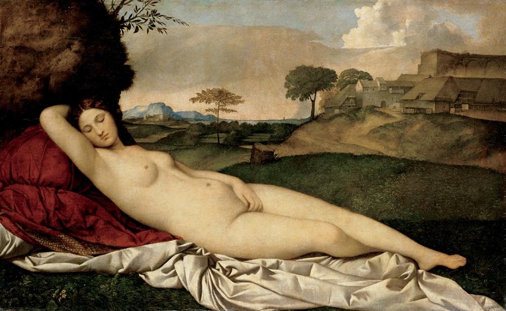 Giorgione. Venus dormida. Hacia 1508-1510. Museo de Dresde.
