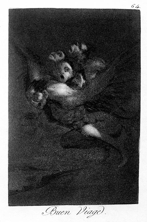 """Francisco de Goya. """"Buen viaje"""". Caprichos. 1799. Museo Nacional del Prado."""